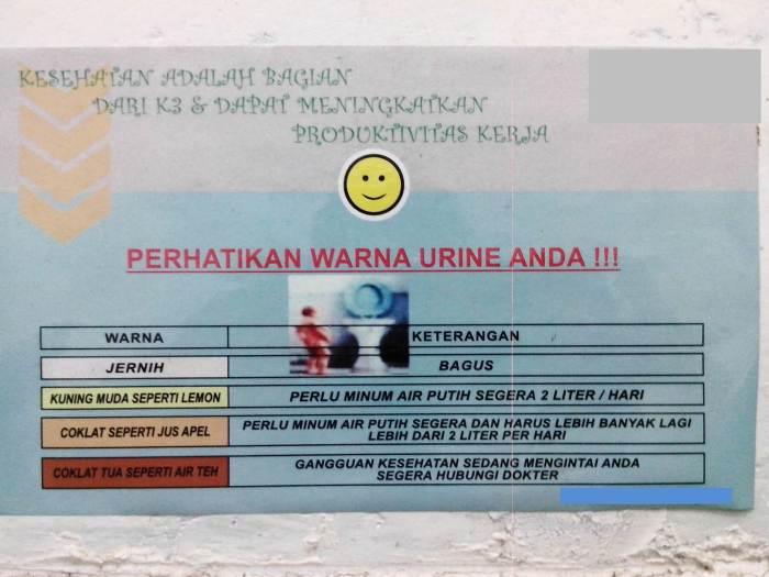 Perhatikan warna urine anda